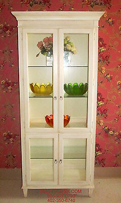 - Ethan Allen Swedish Home Lighted China Curio Cabinet 10 9409 Linen Finish