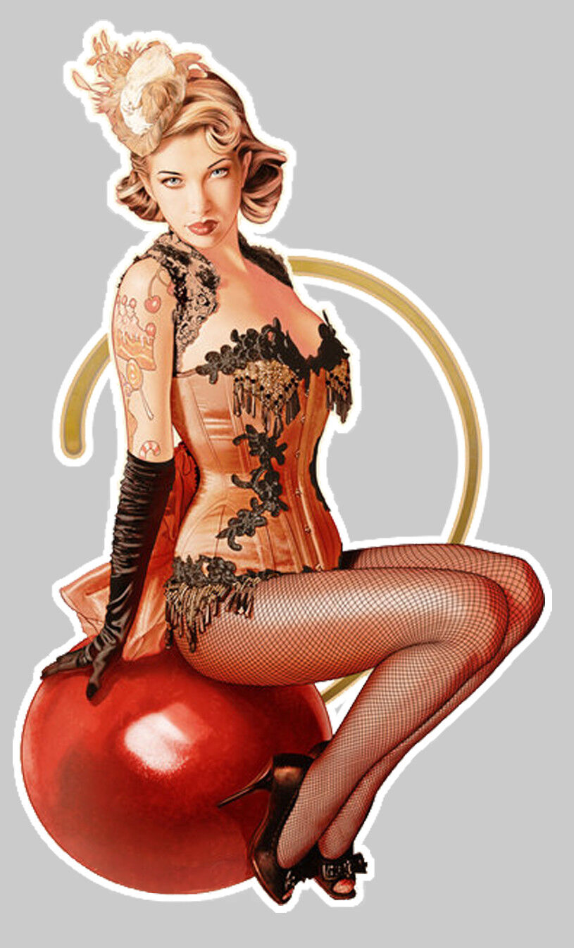 STICKER PINUP BLONDE RETRO AUTOCOLLANT PIN UP GIRL NUISETTE TRUCK MOTO