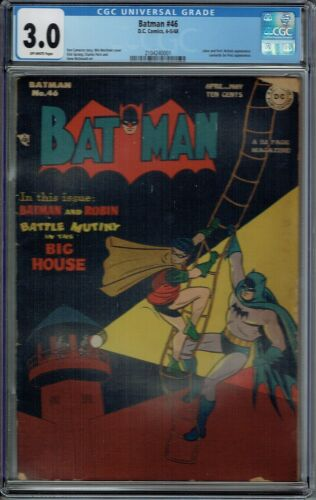 CGC 3.0 BATMAN #46 JOKER APPEARANCE 1948 OFF-WHITE PAGES