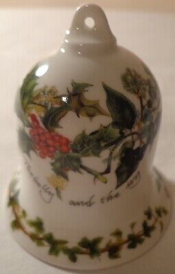 PORTMEIRION CHINA THE HOLLY AND IVY BELL CHRISTMAS TREE ORNAMENT 1995 BRITIAN