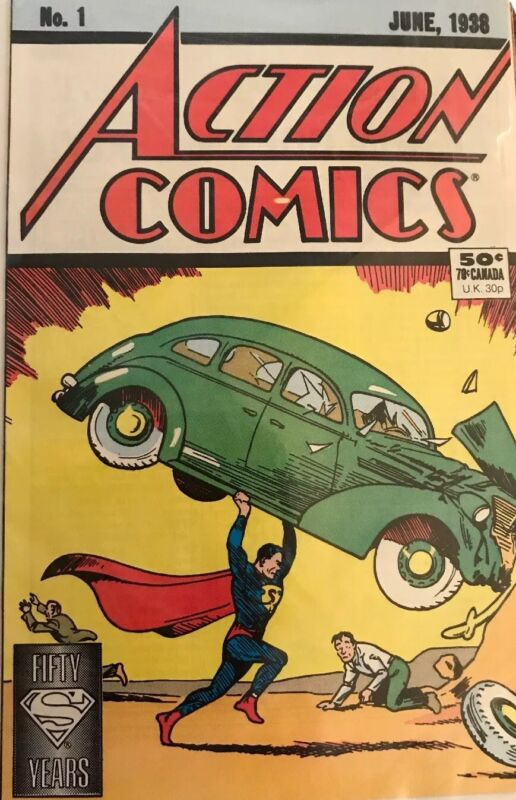 Action Comics No.1 reprint of june 1938 1st appearance of Superman Fifty Years