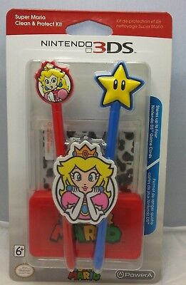 Super Mario Official Nintendo 3DS Clean & Protect Kit PowerA 2015 Princess Peach
