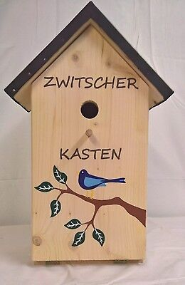 Vogelhaus Schnapsbar Zwitscherkasten mit Gläser Vogel Vogelhaus