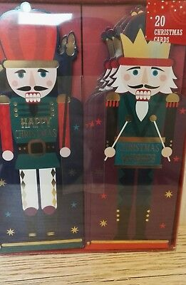 Nutcracker Soldier Themed Christmas Cards x 20