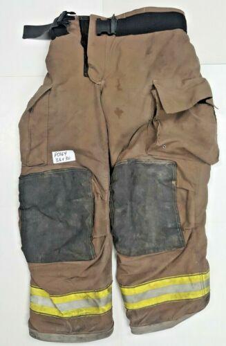 38x30 Firefighter Turnout Bunker Pants Globe Dark Brown Gxtreme P0164