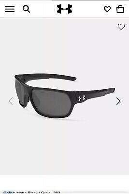 NEW Under Armour Shock Fishing Sunglasses 8630109-020100 Matte Black / (Shock Sunglasses)