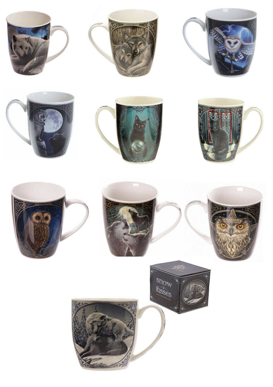 Details about Lisa Parker Design Mugs Novelty Bone China Tea Coffee Cup Fantasy Gift Boxed New