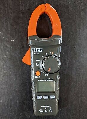 Klein Tools Cl210 400a Ac Digital Clamp Meter Multimeter - Cleaned Sanitized