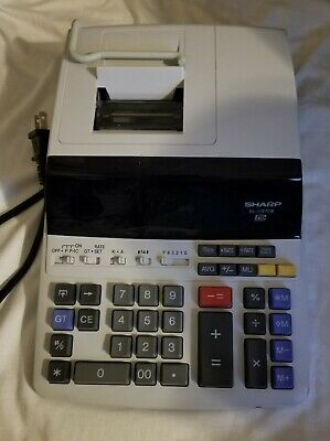 Sharp EL-1196PIII Desktop 12 Digit 2 Color Printing Accounting Calculator Works