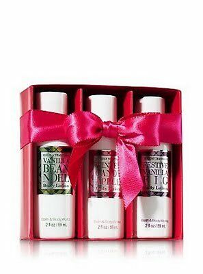 Bath & Body Works Vanilla Bean Noel, Winter Candy Apple, Vanilla Fig Body Lotion Apple Vanilla Body Lotion