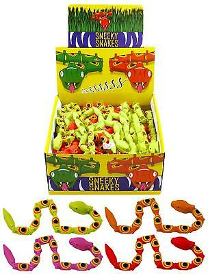 (6 PLASTIC SNEAKY SNAKE PARTY BAG LOOT FILLER PRIZES)