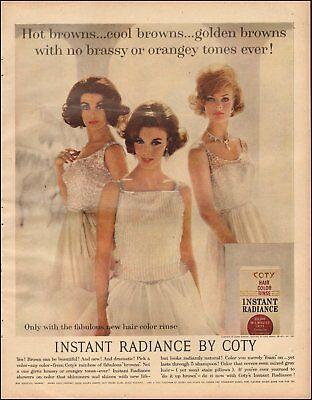 1960's Vintage ad Coty Hair Color Rinse`retro fashion Pretty Models    092718