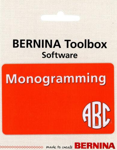 Bernina ToolBox Software - Monogramming