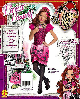 Ever After High Briar Beauty Child Costume Girls Dress Up Halloween Large 12-14 (Briar Beauty Halloween Costume)