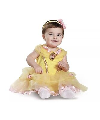 Disney Beauty and the Beast Princess Belle Deluxe Infant Costume New