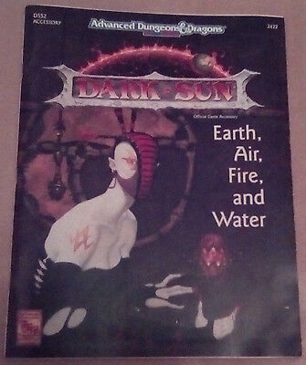 Dark Sun - Earth, Air, Fire, and Water AD&D 2nd Edition