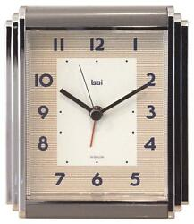 Bai Westchester Chrome-Plated Alarm Clock, Landmark
