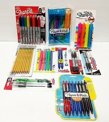 NEW Back to School Supplies 50+ Pieces Mixed Pens Pencils Sharpies BEST
