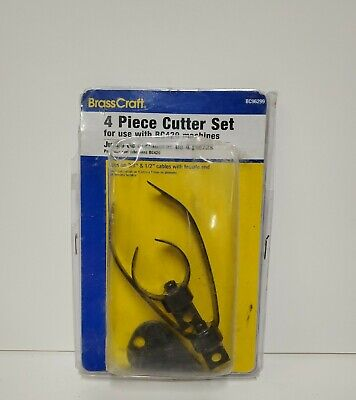 3-piece Cutter Set Drain Cleaner Plumbing Snake Tool Cable Auger Clog Sewer New