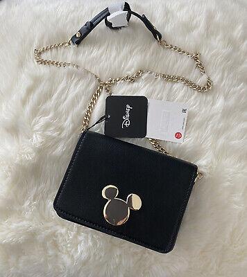 ZARA Woman Black Mickey Mouse ©DISNEY Crossbody Bag REF:6860/510 Brand New