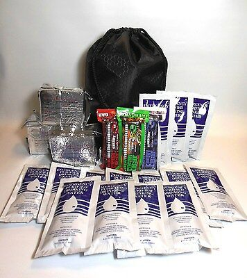 7 Day Emergency Food & Water Supply Kit Hurricane Disaster Survival BoB Zombie