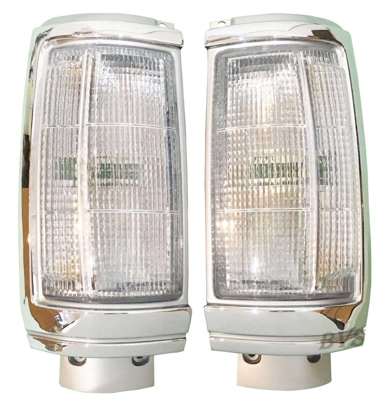 FRONT CHROME CORNER LIGHT LAMP for Mitsubishi L200 Dodge Ram50 Colt Strada