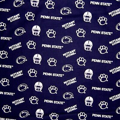 College Fabric - Penn State Nittany Lion Helmet Logo Blue & White - Sykel YARD - Nittany Lion Costume
