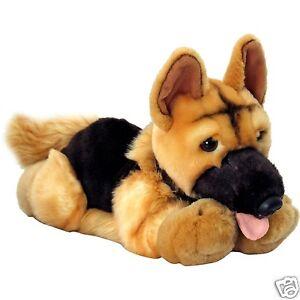 Keel Alsation German Shepherd Cute Dog Plush Soft Toy 30cm SD4575