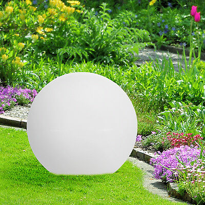Beleuchtete LED Gartenkugel 40cm Kugelleuchte Leuchtkugel Kugellampe Gartenkugel