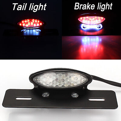 Motorcycle Led Brake Tail Light Turn Signal License Plate For Cafe Racer Harley