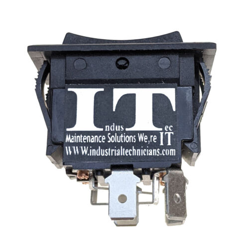 IndusTec 30A Rocker Switch - DC Motor Polarity Reverse Maintained Latching DPDT