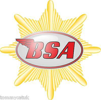 Motorbike Exterior Vinyl Stickers Vintage BSA Wings Star Style Motorcycle Decals
