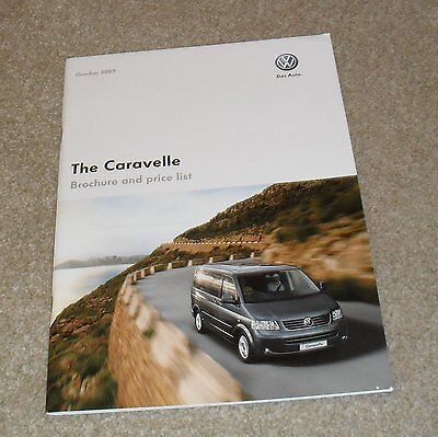 Volkswagen VW Caravelle Brochure & Price List 2009 - Startline SE LWB Executive