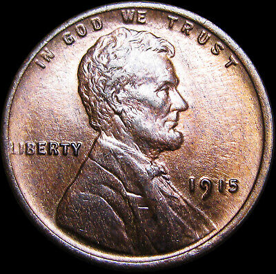 1909 VDB Lincoln Cent Showing On End Of 50 Coin Wheat Roll