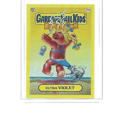 2011 TOPPS GARBAGE PAIL KIDS YELLOW PARALLEL ULTRA VIOLET #26A