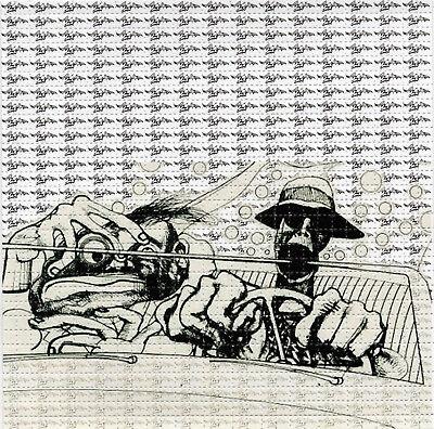 Bat Country Hunter S Thompson  - BLOTTER ART Sheet acid free paper lsd acid art