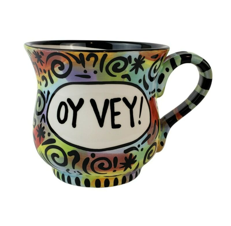Oy Vey! Oversized Coffee Mug Our Name is Mud Lorrie Veasey 20 oz Oy Vey Cup