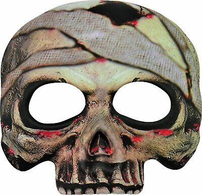 Mummy Halloween Half Mask Costume Accessory Adult Womens Mens Skeleton Skull - Half Woman Half Man Halloween Costume