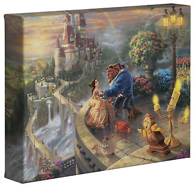 Thomas Kinkade Beauty and the Beast 8 x 10 Gallery Wrapped Canvas Disney