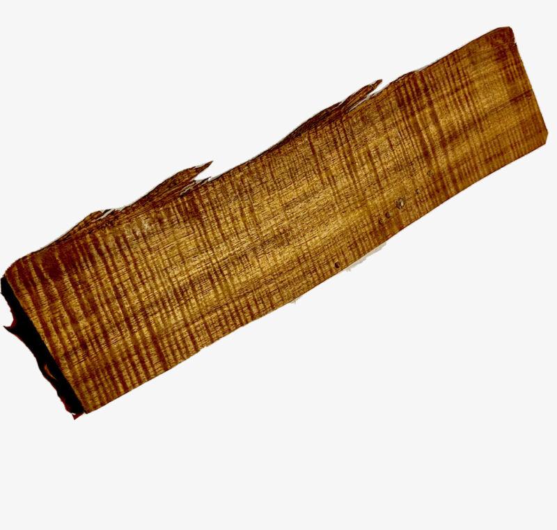 """Koa Heavy Flamed🔥 Quartersawn .5""""x3.5""""x16"""" Craft Hawaiian Art LiveEdge Wood"""
