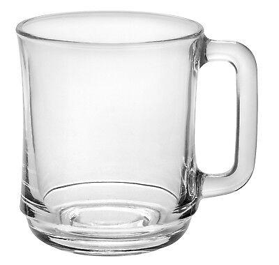 (Duralex - Lys Stackable Clear Mug 310 ml (10 7-8 oz) Set Of 6)