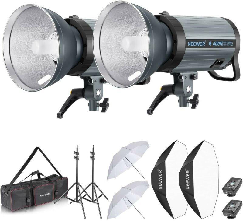 Neewer 800W Studio Strobe Flash Photography Lighting Kit:(2) 400W Monolight