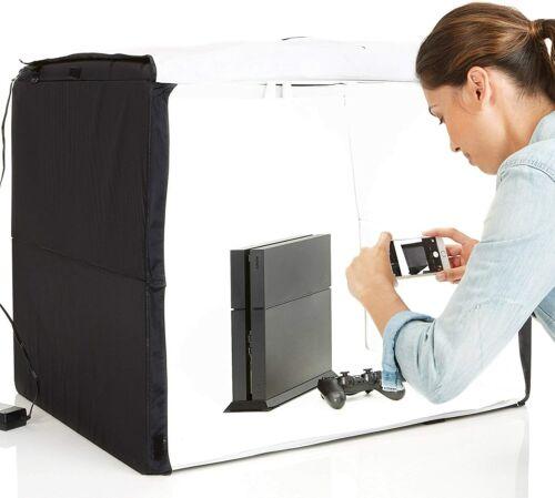 Amazon Portable Foldable Photo Studio Box w/ LED Light - 25 x 30 x 25 NEW UNUSED