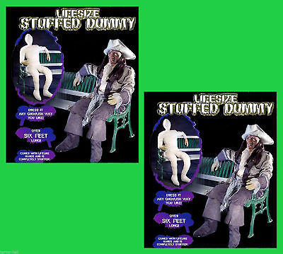 LifeSize 2 Pc STUFFED FLEXIBLE DUMMY BODIES Halloween Holiday Haunted Dead Props - Life Size Dummy