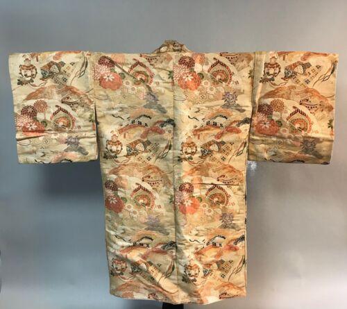 Spectacular silk Noh costume . 1915-1940. JJ32