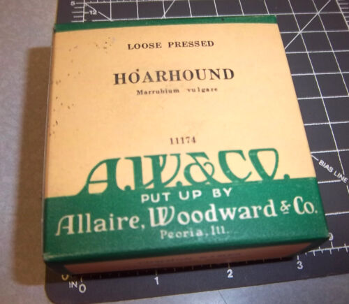 Vintage Allaire Woodward & co, HOARHOUND, 1900s Pharmacy New unopened box