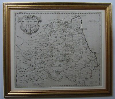 Durham: antique map by Robert Morden, 1695 and later