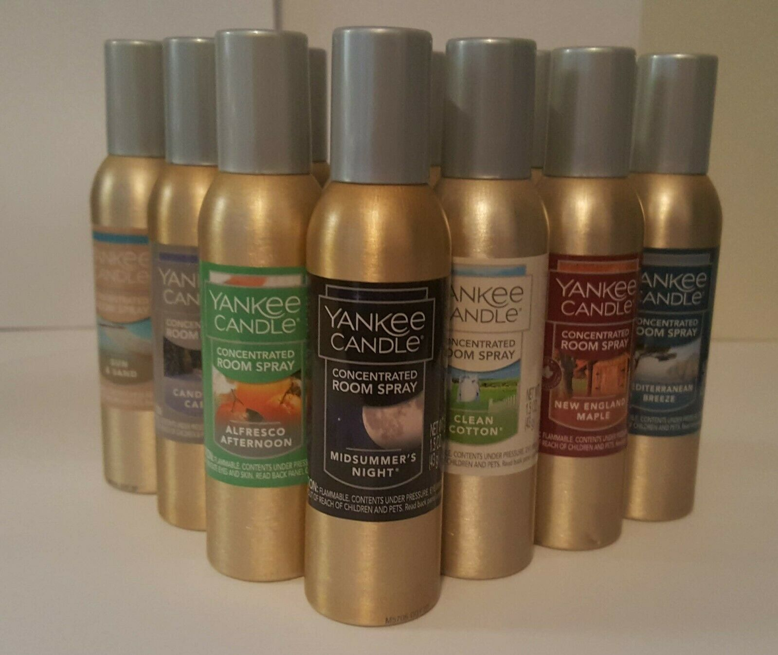 YANKEE CANDLE ROOM SPRAYS - 45 SCENTS- YOU CHOOSE - FREE  FA