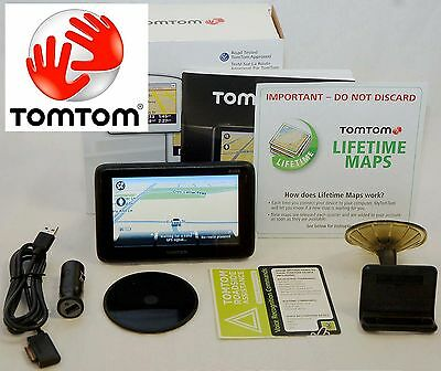 "NEW TomTom PRO 7150 Truck Software GPS Set 4.3"" USA/Can LIFETIME MAPS fleet work"