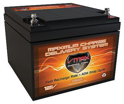 VMAX V30-800 Trolling Motor AGM Battery for Sevylor 12V Electric Trolling Motor